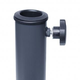 Ständer auf Bodenhülse HWC-A96, Schirmständer für Bodenanker/-platte/-montage Sonnen-/Ampelschirm, Metall Ø 38-48mm - Vorschau 3