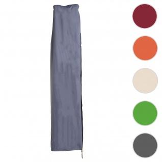 Schutzhülle HWC für Ampelschirm bis 3, 5 m, Abdeckhülle Cover mit Reißverschluss ~ blau