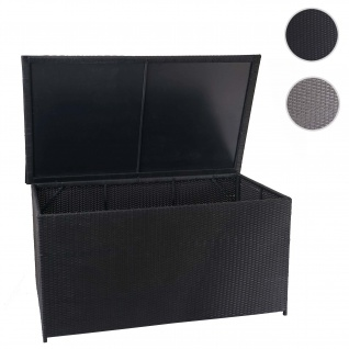 Poly-Rattan Kissenbox HWC-D88, Gartentruhe Auflagenbox Truhe ~ Basic schwarz, 80x160x94cm 950l