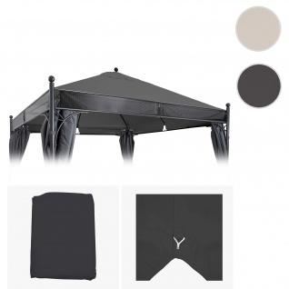 Bezug für Dach Pergola Pavillon HWC-A38, Ersatzbezug, 3, 5x3, 5m 250g/m² UV30+ ~ anthrazit