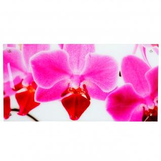 Glasbild T115, Wandbild Poster Motiv, 50x100cm ~ Orchidee