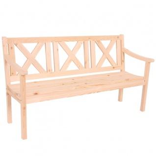Gartenbank Bank Parkbank Kopenhagen 3-Sitzer 160 cm Holz Gastronomie-Qualität ~ natur