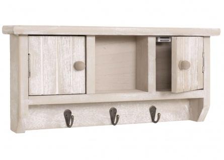 Schlüsselbrett HWC-A48, Schlüsselkasten Schlüsselboard mit Türen, Massiv-Holz ~ shabby beige - Vorschau 4
