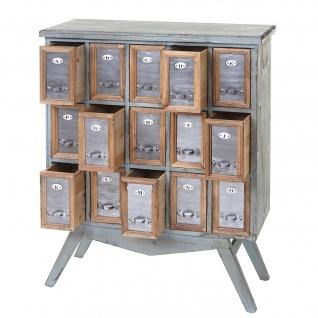 Apotheker-Schrank HWC-A43, Kommode, Tanne Holz massiv Vintage Shabby-Look 94x73x32cm