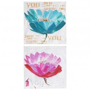 Ölgemälde Orchidee, 100% handgemaltes Wandbild XL, 100x50cm - Vorschau 1