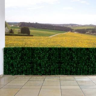 Sichtschutz Windschutz Verkleidung für Balkon Terrasse Zaun Blatt dunkel 300 x 150 cm