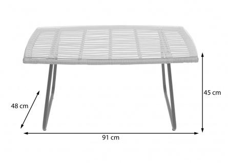 Polyrattan Garnitur HWC-G17a, Gartengarnitur Sofa Set Sitzgruppe ~ naturfarben, Polster creme ohne Dekokissen - Vorschau 5