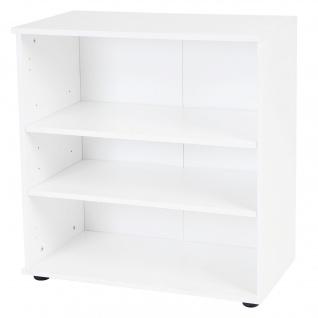 Regal Cleveland, Bücherregal Ablageregal, weiß Hochglanz 76x71x35cm