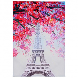 Ölgemälde Eiffelturm, 100% handgemaltes Wandbild Gemälde XL, 100x70cm - Vorschau 4