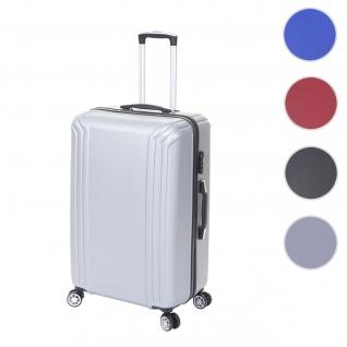 Koffer HWC-D54, Reisekoffer Hartschalenkoffer Trolley, 60x42x26cm 64l ~ grau, Premium D54a