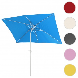 Sonnenschirm N23, Gartenschirm, 2x3m rechteckig neigbar, Polyester/Alu 4, 5kg ~ blau