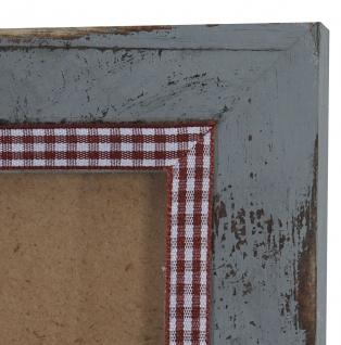 Bilderrahmen T249, Fotorahmen Holzrahmen Wand-Rahmen, 26x36cm Shabby-Look Landhaus ~ grau - Vorschau 4