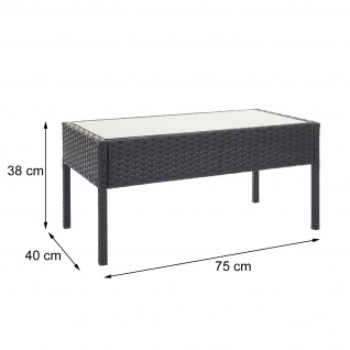 Poly-Rattan Garnitur HWC-F56, Balkon-/Garten-/Lounge-Set Sitzgruppe ~ braun, Kissen dunkelgrau - Vorschau 5