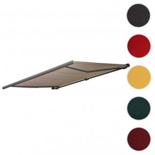 Bezug für Markise T122, Vollkassette Ersatzbezug Sonnenschutz 4x3m ~ Polyester sand
