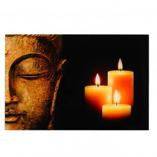 Glasbild T116, Wandbild Poster Motiv, 40x60cm ~ Buddha