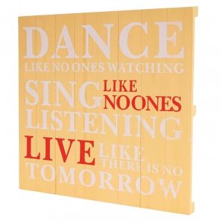 Wandschild Dance, Shabby-Look Vintage 60x60cm ~ gelb