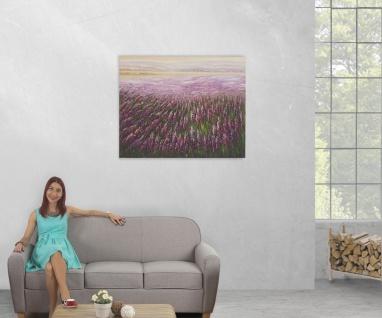 Ölgemälde Blumenfeld, 100% handgemaltes Wandbild XL, 100x80cm - Vorschau 5