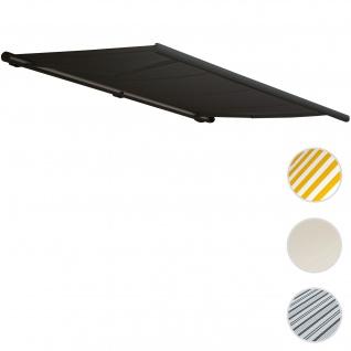 Elektrische Kassettenmarkise T122, Markise Vollkassette 4x3m ~ Polyester anthrazit, Rahmen anthrazit