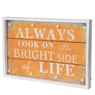 LED-Bulb Bild Leuchtbild Wandbild, Shabby-Look Vintage 60x40cm, Life