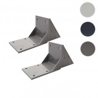 2x Dachsparrenadapter für Kassetten-Markise T122 T123, Dachsparren Halterung Adapter ~ grau