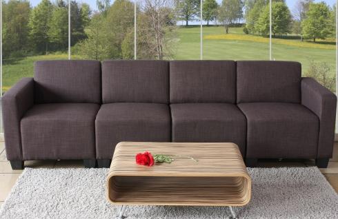 Modular 4-Sitzer Sofa Couch Lyon, Textil braun