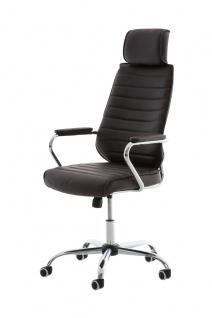 Bürostuhl CP298, Bürosessel Drehstuhl ~ braun