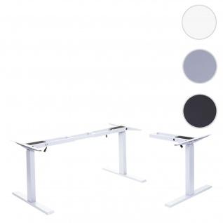 Gestell HWC-D40, variables Tischgestell für Eck-Schreibtisch, elektrisch höhenverstellbar Memory 45kg ~ weiß