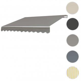 Bezug für Markise T792, Gelenkarmmarkise Ersatzbezug Sonnenschutz, 5x3m ~ Polyester grau-braun