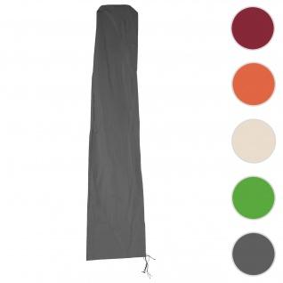 Schutzhülle HWC für Ampelschirm bis 3, 5 m, Abdeckhülle Cover mit Reißverschluss ~ anthrazit