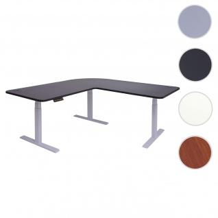 Eck-Schreibtisch HWC-D40, Bürotisch Computertisch, elektrisch höhenverstellbar Memory 178x178cm 84kg ~ schwarz, grau