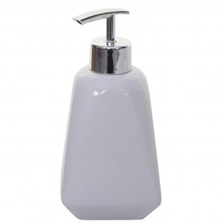 5-teiliges Badset HWC-C71, WC-Garnitur Badezimmerset Badaccessoires, Keramik ~ weiß - Vorschau 4