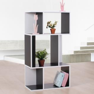 Standregal Bücherregal Regal aus Holz 109x59x30 cm ~ schwarz