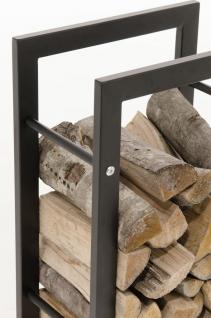 Kaminholzständer CP319, Feuerholzregal 25x40x150 Eisen - Vorschau 2