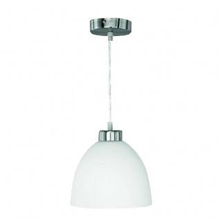 Reality Trio Pendelleuchte Deckenlampe Lampe, nickel matt, Opal-Glas, weiß, D=20cm