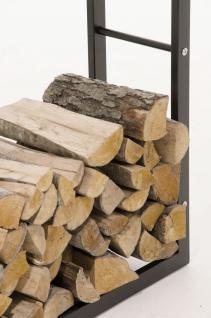 Kaminholzständer CP319, Feuerholzregal 25x100x100 Eisen - Vorschau 2