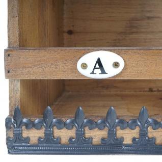 Wandregal HWC-A43, Hängeregal Regal, Tanne Holz massiv Vintage Shabby-Look 71x18x16cm - Vorschau 4