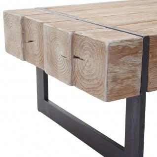 Couchtisch HWC-A15a, Wohnzimmertisch, Tanne Holz rustikal massiv 40x120x60cm ~ naturfarben - Vorschau 5