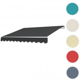 Alu-Markise T791, Gelenkarmmarkise Sonnenschutz 4, 5x3m ~ Polyester anthrazit