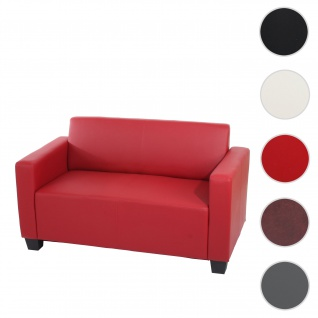 2er Sofa Couch Lyon Loungesofa Kunstleder ~ rot