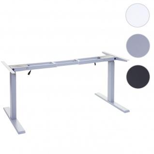 Gestell HWC-D40, variables Tischgestell für Schreibtisch, elektrisch höhenverstellbar Memory 29kg ~ grau