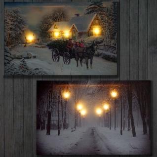 2x LED-Bild, Leinwandbild Leuchtbild Wandbild 60x40cm Snow - Vorschau 5