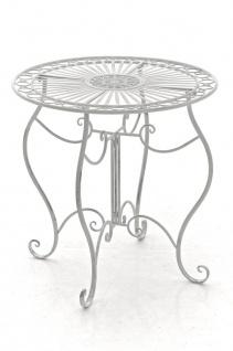 Gartentisch CP309, Metalltisch ~ antik-weiß