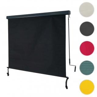 Vertikalmarkise HWC-F42, Senkrechtmarkise Sichtschutz Außenrollo Rollo, UV-Schutz 50 Stoff ~ 250x180cm, schwarz