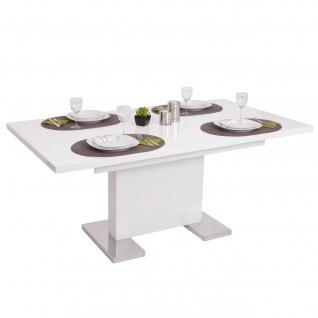 Esstisch HWC-B49, Esszimmertisch Tisch, ausziehbar hochglanz Edelstahl 120-160x90cm