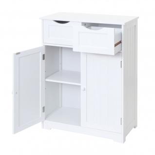 Kommode HWC-B65, Schubladenschrank Schrank, 2 Schubladen und 2 Türen 80x70x34cm weiß