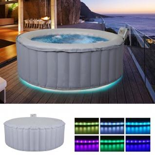 Whirlpool MSpa HWC-A62 Glow, 4 Personen In-/Outdoor LED heizbar aufblasbar Ø 180cm FI-Schalter - Vorschau 1