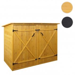 1er-Fahrradgarage HWC-H60, Fahrradbox Geräteschuppen Gerätehaus, abschließbar 152x184x98cm ~ braun
