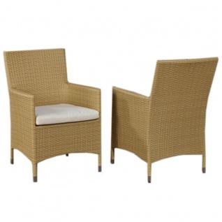 Stuhl, Gartenstuhl Julia, Polyrattan ~ sand