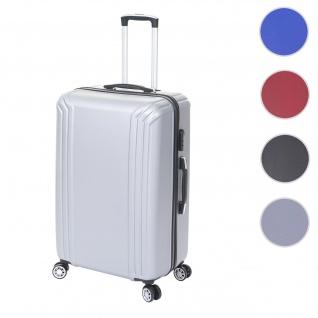Koffer HWC-D54, Reisekoffer Hartschalenkoffer Trolley, 72x50x30cm ca. 100l ~ grau, Premium D54a