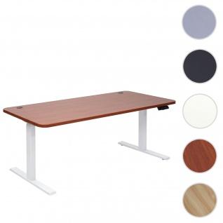 Schreibtisch HWC-D40, Computertisch, elektrisch höhenverstellbar 160x80cm 53kg ~ natur, weiß